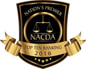 National Academy of Criminal Defense Attorneys Top 10 Ranking